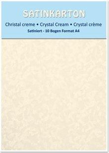 DESIGNER BLÖCKE  / DESIGNER PAPER Kartenkarton A4, beidseitig satiniert  250gr. / qm, Kristall, creme