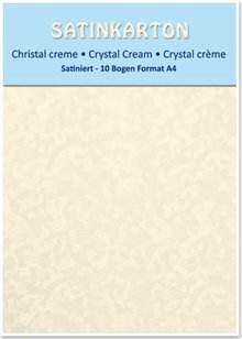 DESIGNER BLÖCKE  / DESIGNER PAPER Karton A4, dobbeltsidet satin 250gr. / Kvm, krystal, creme