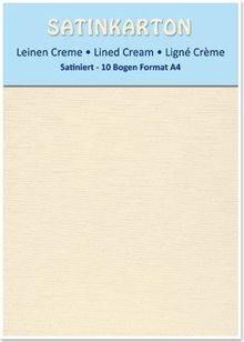 DESIGNER BLÖCKE  / DESIGNER PAPER 10 sheets A4, 250gr / sqm, on both sides with satin linen embossing, cream