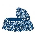 Tattered Lace Corte y estampación plantillas, hecho andrajos Encaje Cuna