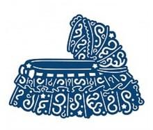 Tattered Lace Skæring og prægning stencils, Tattered Lace, Cot