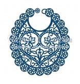 Tattered Lace Corte y estampación plantillas, babero del bebé de encaje hecha andrajos