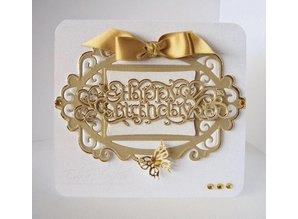 TONIC Tonic, stamping and embossing stencils TOPPER THE SET + Text HAPPY BIRTHDAY