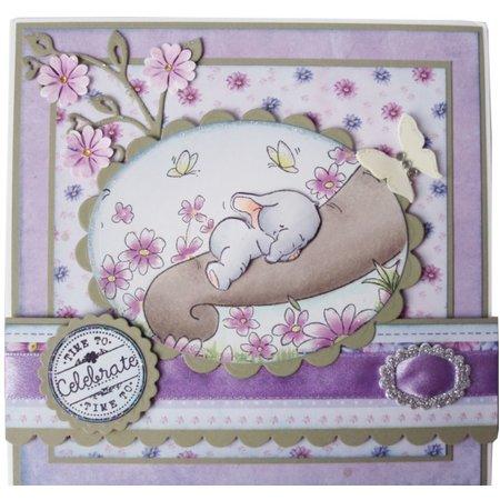 Wild Rose Studio`s A7 stamp set Bella Sleeping