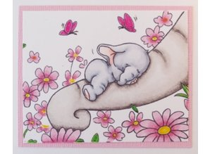 Wild Rose Studio`s A7 stamp set Bella Sleeping