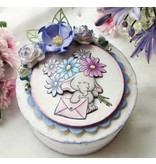 Wild Rose Studio`s A7 stamp set Bella with flowers