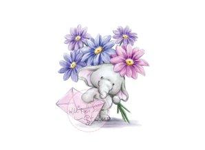 Wild Rose Studio`s A7 Stempel-Set Bella mit Blumen