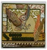 DESIGNER BLÖCKE  / DESIGNER PAPER Designer Paper blok Owls felt, med ugle motiver