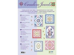 Exlusiv Conjunto Material: Aniversario / Juego de 6 tarjetas con brillantes