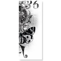 Klare stempler Kaiser Craft, nostalgisk design med sommerfugl