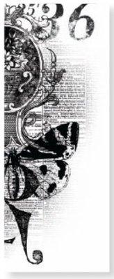 Kaisercraft und K&Company Transparent Stempel Kaiser Craft, nostalgisches Design mit Schmetterling