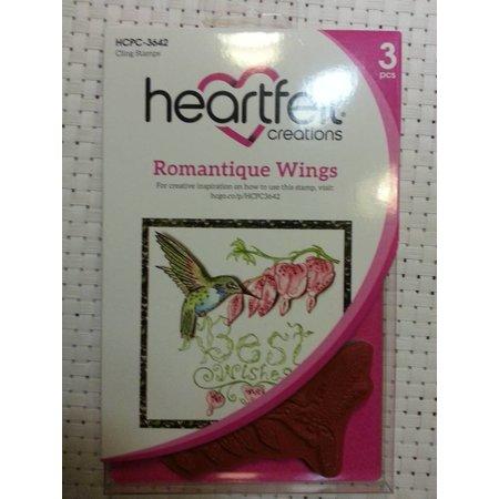 Heartfelt Creations aus USA Gummistempel, 3 motiver Romantique Wings