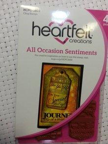 Heartfelt Creations aus USA Gummi stempler, 4 motiver, Journal Labels tekst til mange lejligheder