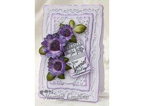 Heartfelt Creations aus USA Gummi stempler, 4 motiver, Journal Labels tekst til alle lejligheder