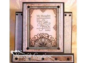 Heartfelt Creations aus USA sellos de goma, 4 motivos, Diario etiquetas de texto para todas las ocasiones