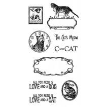 Rubber Stempel, Raining Cats & Dogs