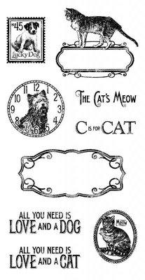 Graphic 45 Timbro, Raining Cats & Dogs
