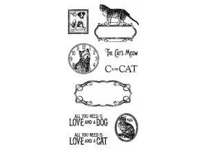 Graphic 45 Sello de goma, lloviendo gatos y perros