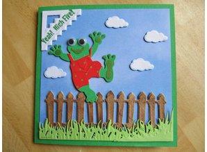 Yvonne Creations Präge- und Schneideschablone, glückliche Frosch