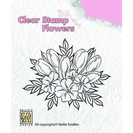 Nellie snellen Klare stempler, blomster
