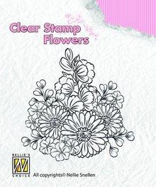 Nellie snellen Timbri trasparenti, fiori