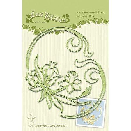 Leane Creatief - Lea'bilities Lea'bilitie® Narciso y remolinos de estampación y corte de plantilla