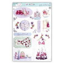 A4 die cut sheet with pretty designs