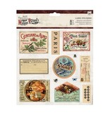 Sticker A4 Die cut sheets with 12 stickers Label