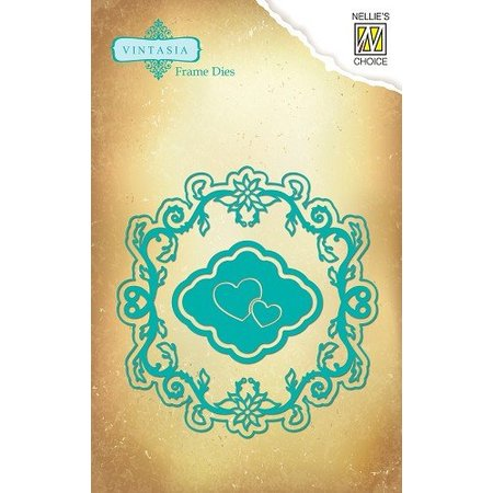 Nellie snellen Vintasia embossing and cutting mat, multi-template, hearts and frame