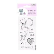 Docrafts / Papermania / Urban Timbri trasparenti, simpatico gattino, Little Meow - Someone Special