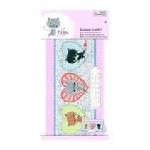 Decoupage card set, small meow