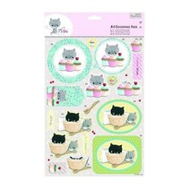 A4 Decoupage Pack - Pequeña Meow - Pasteles