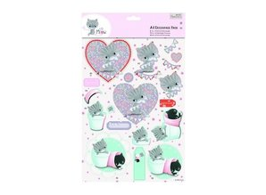 DECOUPAGE AND ACCESSOIRES A4 Decoupage Pack - Little Meow - Friends