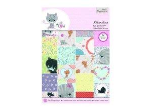 DESIGNER BLÖCKE  / DESIGNER PAPER A5 Paper Block mit 42 Seite, Little Meow