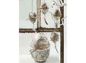 Embellishments / Verzierungen Guinea fowl feathers, about 100 pc., Nature, 3 g