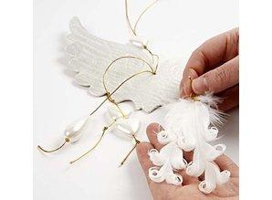 Embellishments / Verzierungen Duck fjer krøllet,
