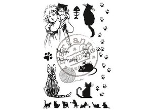 Marianne Design Clear stamps, sweet Kitty