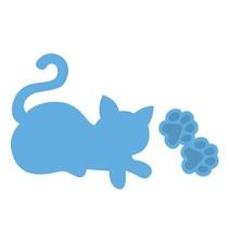 Präge- und Schneideschablone, Katze