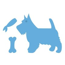 Prægning og udskæring mat, hund