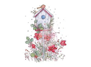Wild Rose Studio`s A7 Stempel-Set Vogelhaus