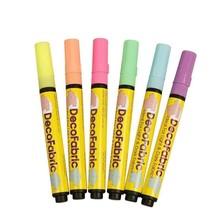 FARBE / INK / CHALKS ... Deco andre stoffer - sortiment, 3 mm streg, neonfarver, 6 Sort.