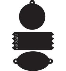 Marianne Design Skæring og prægning stencils, etiketter, labels