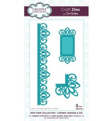 Creative Expressions Stamping and embossing stencil, New York Collection, Corner, Bordure and label