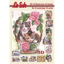 3D Buch A5, KATZEN