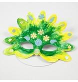 Kinder Bastelsets / Kids Craft Kits Bastelset: 16 Fairy Tale Máscaras, H: 13.5 a 25 cm, 220 g + lentejuelas mezcla, tamaño de 15 a 45 mm