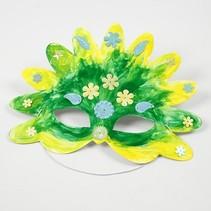 Bastelset: 16 Eventyr Masker, H: 13,5-25 cm, 220 g + Paillet Mix, størrelse 15-45 mm