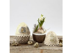 Zweiteiliges Ei, H: 12 cm, 2 Stück