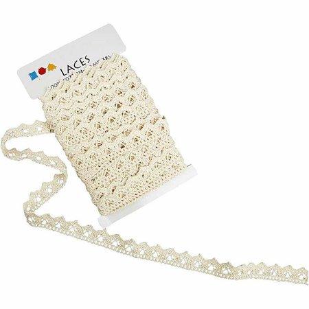 DECOUPAGE AND ACCESSOIRES Crochet, B: 19 mm, crema, vendido por la metro
