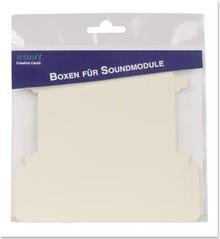KARTEN und Zubehör / Cards 10 music boxes, die cut, for the installation of voice / sound module universal, 10.5 x 4.5 x 1 cm