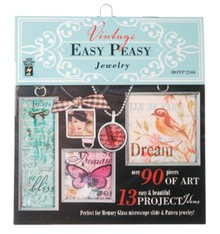 """ModPodge Vintage """"Easy peasy Jewellery"""" bog med mange vintage motiver for at skabe Charms"""
